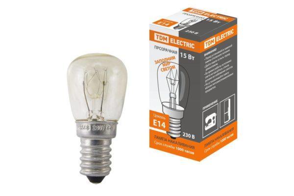 Лампа накаливания РН(ПШ)-230-15, 15 Вт, 230 В, Е14, коробка TDM SQ0332-0140
