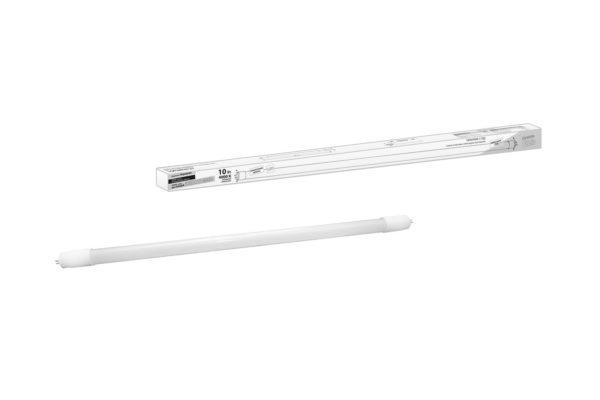 Лампа светодиодная НЛ-Т8-10 Вт-230 В-4000 К–G13, 600 мм, матовая, стекло, непов. Народная