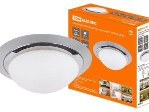 Светильник потолочный Круг хром 2х60Вт E27 IP 44 СП 01 TDM SQ0346-0001
