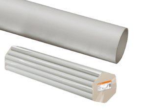 Трубы ПВХ жесткие - цвет серый по 3м