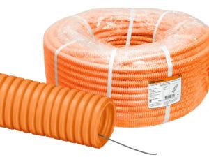 Трубы гофрированные из ПНД оранжевая
