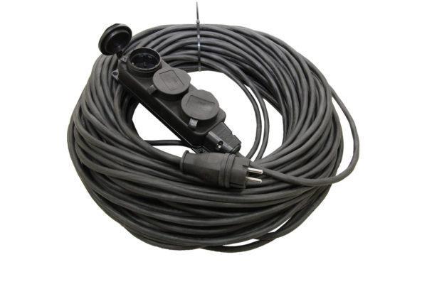 Удлинитель-шнур силовой каучук УШз16-103 IP44 3 гнезда с/з, 10м КГ 3х1,5 TDM SQ1302-0346