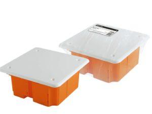 Монтажные коробки скрытой установки для твердых стен (кирпич, бетон)