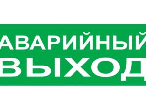 """Сменное табло """"Аварийный выход"""" зеленый фон для """"Топаз"""" TDM SQ0349-0210"""