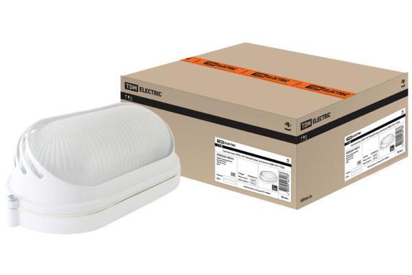 Светильник НПБ1407 белый/овал ресничка 60Вт IP54 TDM SQ0303-0053