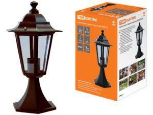 Светильник 6060-14 садово-парковый шестигранник, 60Вт, стойка, бронза SQ0330-0014