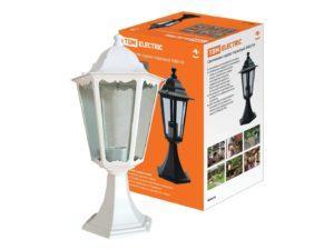 Светильник 6060-24 садово-парковый шестигранник, 60Вт, стойка, белый SQ0330-0064