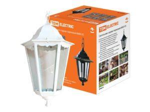 Светильник 6060-25 садово-парковый шестигранник, 60Вт, подвес, белый SQ0330-0065