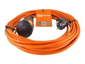 Удлинитель-шнур силовой УШ6 TDM (штепс. гнездо, 10м ПВС 2х0,75) SQ1301-0600