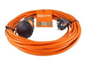 Удлинитель-шнур силовой УШз16 TDM (штепс. гнездо, 40м ПВС 3х1,0) SQ1301-0618