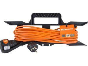 Удлинитель-шнур силовой на рамке УШз16 TDM (штепс. гнездо, 20м ПВС 3х1,0) SQ1302-0332