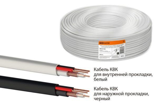 Кабель комбинированный для систем видеонаблюдения КВК