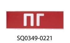 """Сменное табло """"ПГ"""" красный фон для """"Топаз"""" TDM SQ0349-0221"""