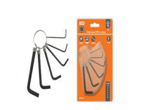 """Набор ключей """"HEX"""" на кольце 6 шт.: 1.5 - 6 мм, углеродистая сталь, блистер """"Гранит"""" TDМ SQ1020-0201"""