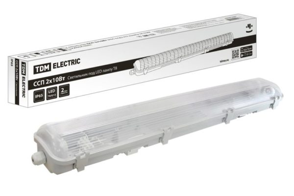 Светильник ССП 2х10Вт IP65 под LED лампу T8 TDM SQ0304-0301