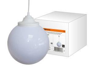 Светильник НСБ 02-60-251 УХЛ4 60 Вт, IP40, шар опал 250 мм, шнур белый TDM SQ0313-0005