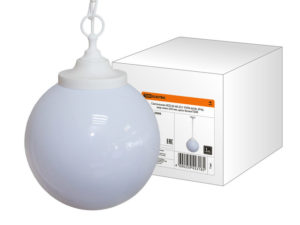 Светильник НСБ 02-60-251 УХЛ4 60 Вт, IP40, шар опал 250 мм, цепь белая TDM SQ0313-0006