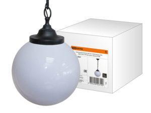 Светильник НСБ 02-60-251 УХЛ4 60 Вт, IP40, шар опал 250 мм, цепь черная TDM SQ0313-0007