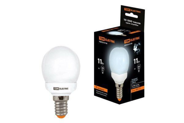 Лампа энергосберегающая КЛЛ-G45-11 Вт-4000 К–Е14 TDM SQ0323-0156