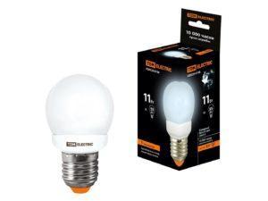 Лампа энергосберегающая КЛЛ-G45-11 Вт-4000 К–Е27 TDM SQ0323-0158
