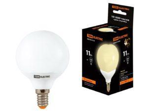 Лампа энергосберегающая КЛЛ-G55-11 Вт-2700 К–Е14 TDM SQ0323-0159