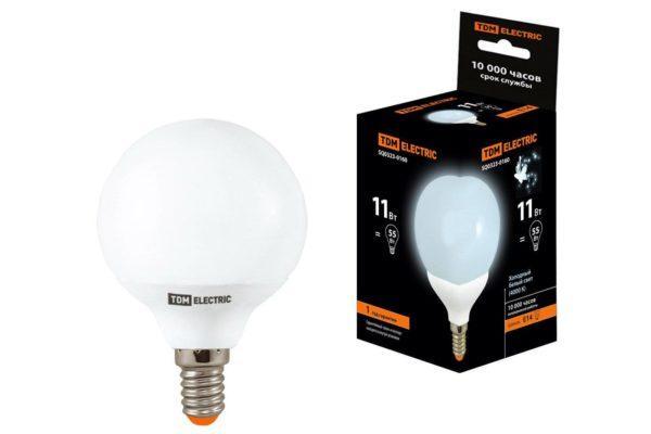 Лампа энергосберегающая КЛЛ-G55-11 Вт-4000 К–Е14 TDM SQ0323-0160