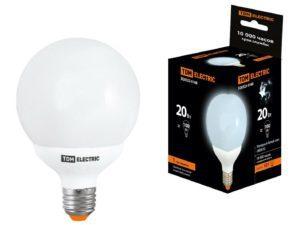 Лампа энергосберегающая КЛЛ-G95-20 Вт-4000 К–Е27 TDM SQ0323-0168