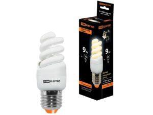 Лампа энергосберегающая КЛЛ-FSТ2-9 Вт-2700 К–Е27 КОМПАКТ (35х95 мм) TDM SQ0323-0171