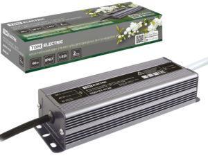Блок питания 60Вт-12В-IP67 для светодиодных лент и модулей DC 12В, металл TDM SQ0331-0138