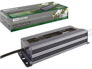 Блок питания 150Вт-12В-IP67 для светодиодных лент и модулей DC 12В, металл TDM SQ0331-0140