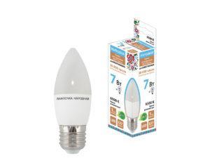 Лампа светодиодная FС37-7 Вт-230 В -6500 К–E27 Народная SQ0340-1544