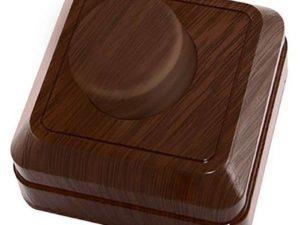 """Светорегулятор поворотный RL 600Вт IP20 бук """"Ладога"""" TDM SQ1801-0309"""