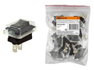 Клавишный переключатель YL-211-03 черный (влагозащищенный) 2 положения 1з TDM SQ0703-0021