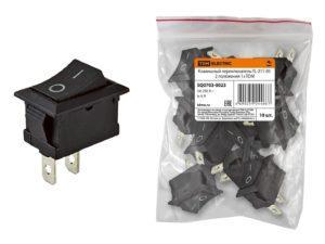 Клавишный переключатель YL-211-05 черный 2 положения 1з TDM SQ0703-0023