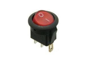 Клавишный переключатель круглый MIRS-101-3-R красный с подсветкой 2 положения 1з TDM SQ0703-0041
