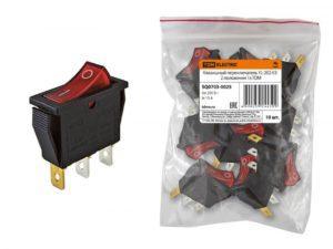 Клавишный переключатель круглый MRS-101-3-B черный 2 положения 1з TDM SQ0703-0043