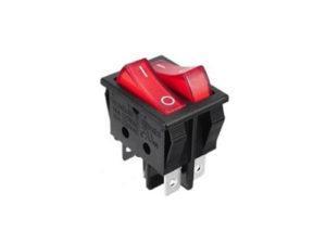 Клавишный переключатель IRS-101-R красный с подсветкой двойной 2 положения 1з+1з TDM SQ0703-0046