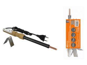 """Паяльник ЭПЦН-25, деревянная ручка, мощность 25 Вт, 230 В, подставка в комплекте, """"Рубин"""" TDM SQ1025-0501"""