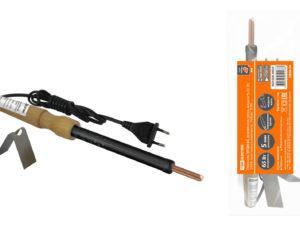 Паяльник ЭПЦН-65, деревянная ручка, мощность 65 Вт, 230 В, подставка в комплекте, «Рубин» TDM SQ1025-0503