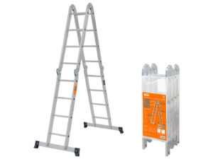 Лестница-трансформер алюминиевая ЛТА4х4, 4 секции по 4 ступени, h=433/209/117 см, 11,7 кг TDM SQ1028-0304