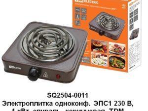 Электроплитка одноконф. ЭПС1 230 В, 1 кВт, спираль, коричневая, TDM SQ2504-0011