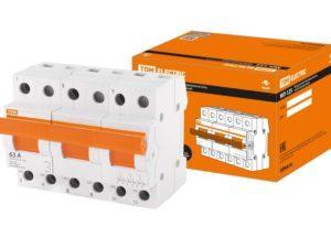 Модульный переключатель трехпозиционный МП-125 3P 63А TDM SQ0224-0046