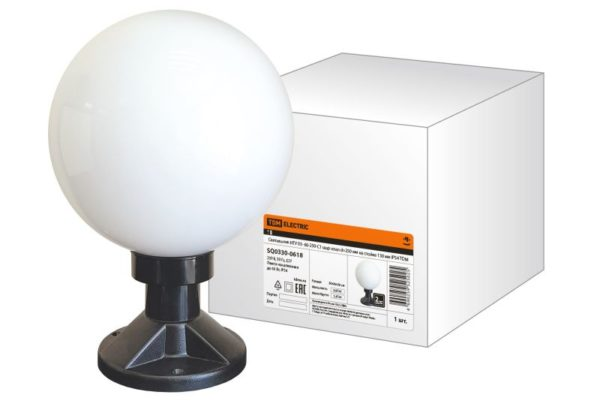 Светильник НТУ 03- 60-250-С1 шар опал d=250 мм на стойке 130 мм IP54 TDM