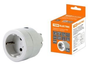 """Приемное устройство Р2К (в розетку - комп.) для беспроводного управления нагрузкой """"Уютный дом"""" TDM SQ1508-0212"""