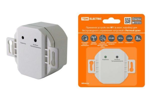 """Приемное устройство М1 (в монт.коробку) для беспроводного управления нагрузкой """"Уютный дом"""" TDM SQ1508-0213"""