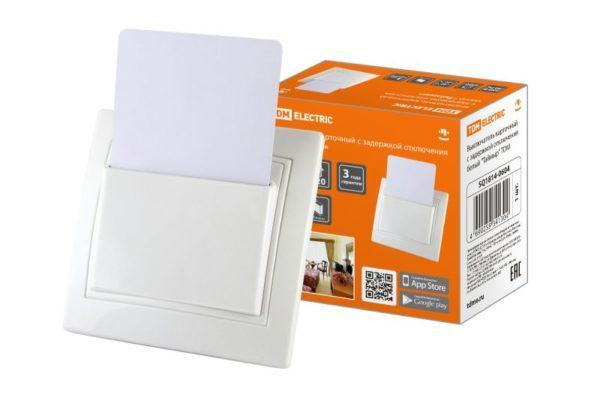 """Выключатель карточный с задержкой отключения белый """"Таймыр"""" TDM"""