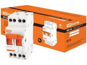 Модульный переключатель трехпозиционный МП-63 2P 32А TDM SQ0224-0015