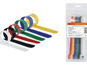 Набор хомутов-липучек НХЛ 16х310 мм 6 цветов по 2 штуки (12 шт) TDM