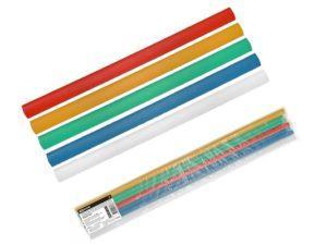 Трубки термоусаживаемые, клеевые, набор 5 цветов по 2 шт. ТТкНГ(3:1)