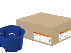 Установочная коробка СП D68х45мм, саморезы, синяя, IP20, TDM SQ1402-0002